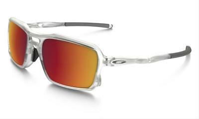 New Oakley Triggerman Matte Clear Sunglasses W  Torch Iridium Lens Oo9266 07