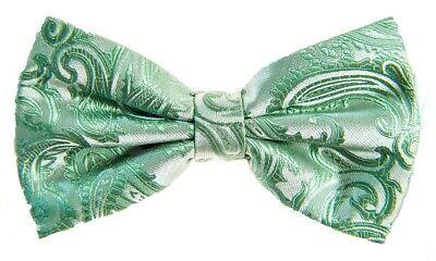 Mint Green Wedding (New Men's BUTTERFLY Design Mint Green Pretied Bow tie Prom Wedding Formal)