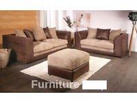 💖💥💥100% Best Price Guaranteed💥💥❤New Jumbo Cord 'Double Padded' Byron Corner Or 3+2 Leather Sofa