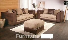 BRAND NEW SOFA 3+2 OR CORNER FABRIC CORD OFFER PRICE