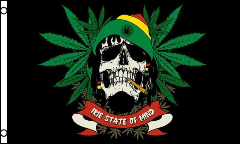 Rasta Skull Rastafarian Cannabis Leaf 5