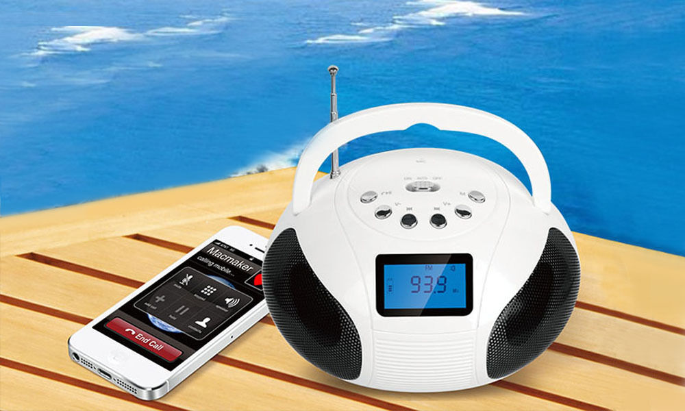KOCASO Bluetooth Speaker LCD FM Radio Alarm Clock Hands-Free Call For Smartphone