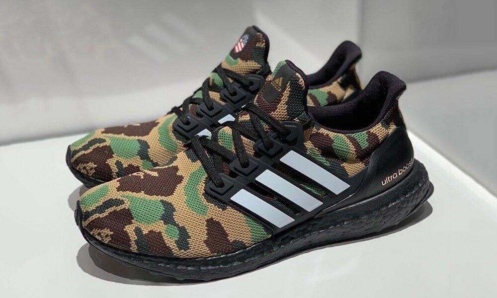 6d8fb51b8e7e8 Bape x Adidas Ultraboost 4.0 Green Camo (Size UK 8)