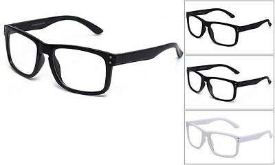 Clear Lens Horn Rimmed Fashion Glasses Thick Frame Rounded (Thick Rimmed Glasses For Men)