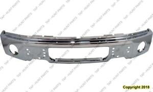 Bumper Front Chrome With Fog Lamp Hole Ford F150 2009-2014