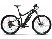 "Haibike Electric Mountain Bike Sduro Hardseven 35cm 2016 27.5"" wheels, 10 gears, 4 modes."