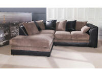 BRAND NEW - THE LITTLE BIG BYRON CORNER SOFA IN JUMBO FABRIC - EXPRESS DELIVERY AVAILABLE