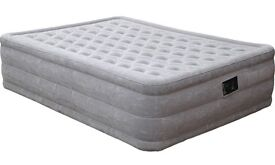 Queen size delux air bed with built in pump