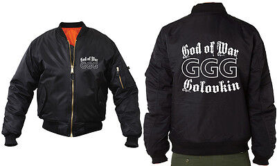 Ggg Gennady Golovkin Boxing Glove Bomber Jacket Top Rank Wba Champion Good Boy