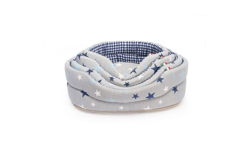 Cuccia cuscino ovale con stelline