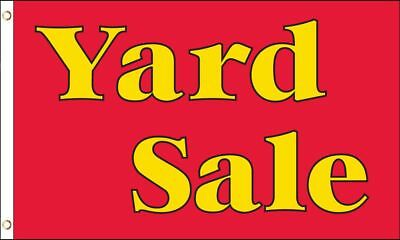 3x5 Yard Sale Flag 3 x 5 Banner 3'x5' Outdoor Advertising Red Yellow Sign Flags