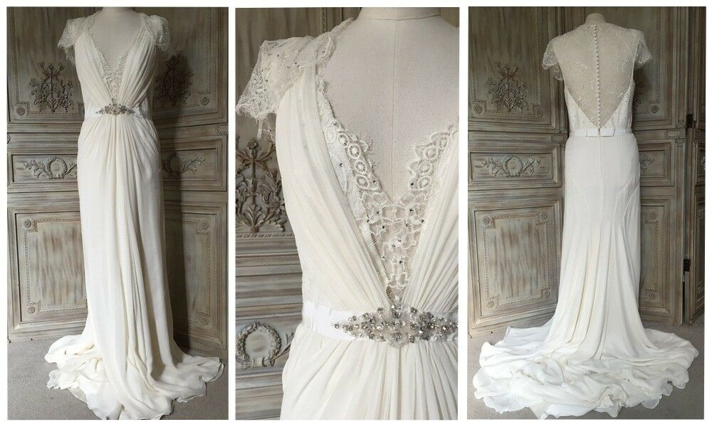 Bnwt Jenny Packham Aspen Silk Wedding Gown