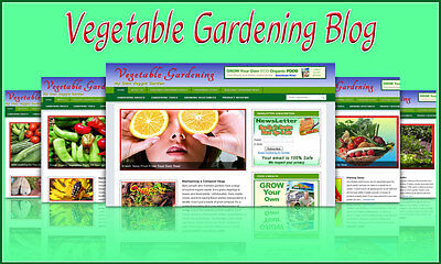 Vegetable Gardening Blog Self Updating Website - Clickbank Amazon Adsense Pages