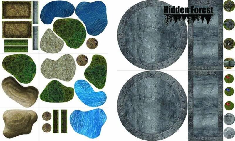 (Plastic) HiddenForest Combo: Scenario Elements and Terrain Pack