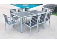 Brand New Boxed, Garden / Outdoor Dinning Table and 8 Chairs Set. Weather Proof