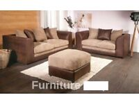 BEST SELLING BRAND- New BYRON Jumbo Cord Corner or 3 and 2 Seater Sofa Suite --High Quality--