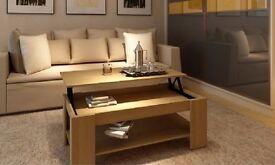 Oak Lift-Top Coffee Table - Like new