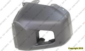 Bumper End Front Passenger Side Matt-Dk Grey With Sensor Hole Platinum Mode Awd/Rwd Toyota Tundra 2014-2017