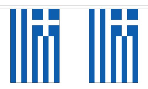 Greece Polyester Flag Bunting - 9m long with 30 Flags