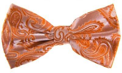 (New Men's BUTTERFLY Design SALMON ORANGE Pre-tied Bow tie Prom Wedding Formal)