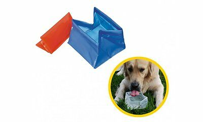 Camon ciotola tascabile da viaggio pieghevole per cane, gatto acqua e crocchini
