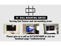 (Same Day / Next Day) TV Wall Mounting Fitting Service -Uckfield Area