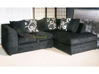 *7-DAY MONEY BACK GUARANTEE!* Brittany Chenille Fabric Corner or 3 and 2 Sofa Set -SAME DAY DELIVERY