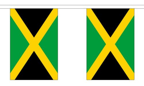 Jamaica Polyester Flag Bunting - 6m long with 20 Flags