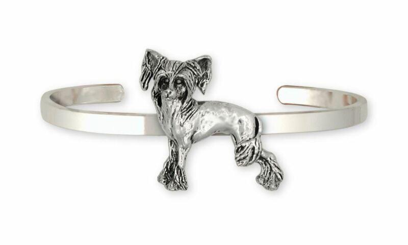 Chinese Crested Bracelet Jewelry Sterling Silver Handmade Dog Bracelet CC2-CB
