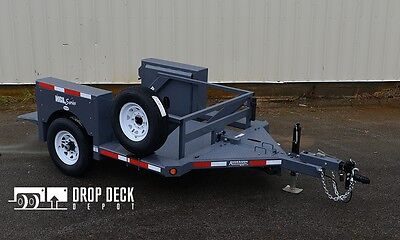 2019 Anderson Hgl3510 Single Axle Hydraulic Drop Deck Scissor Lift Trailer 5x10