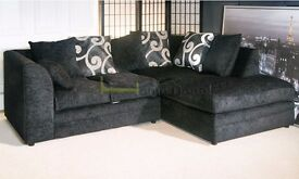 **7-DAY MONEY BACK GUARANTEE!** Brittany Chenille Fabric Corner Sofa or 3 and 2 Set - SAME DAY!