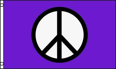 PURPLE PEACE SIGNS 3X5 FLAG FL602 peace hippie decor wall banner tapestry love