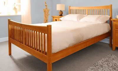 3ft 4ft6 5ft Solid Wooden Country Bed Frame Choice of Colours and Mattresses