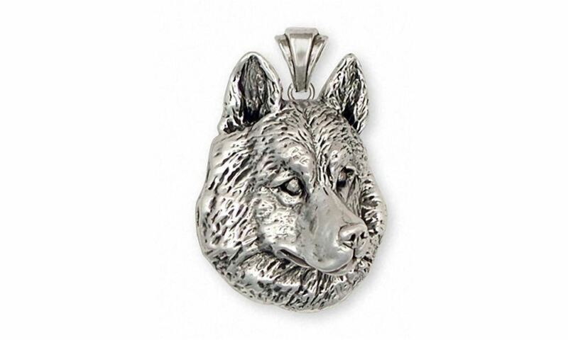 Siberian Husky Pendant Jewelry Sterling Silver Handmade Dog Pendant SB1-P