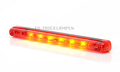 LED BREMSLEUCHTE BREMSLICHT 6 LED - 237 x 20,5 mm - UNI FÜR 12/24 VOLT