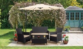 RATTAN FURNITURE + FREE DELIVERY sofa set for garden patio fence paving decking shed conservatory