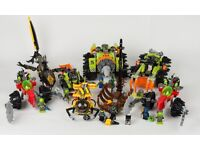 Lego 7 Powerminer and Underwater theme sets with 9 minifigures