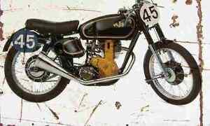 AJS 7R 1948 Aged Vintage SIGN A4 Retro