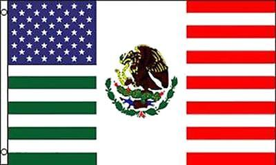 AMERICAN MEXICO FRIENDSHIP COMBO 3 X 5 FLAG FL761 banner MEXICAN usa w grommets