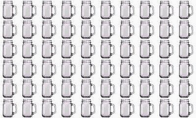 Wholesale Lot Set 5 Cases=60 Jars Rustic Bridal Wedding Mason Jars with Handles