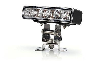 LED ARBEITSSCHEINWERFER - 6 LED / 1000 LUMEN - NUR 146,5 x 33mm UNI 12/24V
