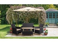 LOOK HERE !!!! GARDEN FURNITURE SETS REDUCED !!! RATTAN TABLE SOFA CHAIRS SHED DECKING PAVING SOFA