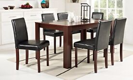 Dark wood Dining Table with 6 Chairs PRICE REDUCED