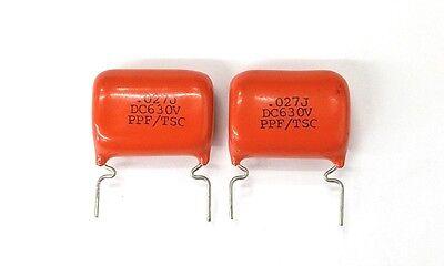 Lot Of 2 New 0.027uf 630v Polypropylene Film Capacitors 5 - .027uf 27000nf