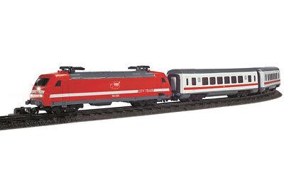 Dickie City Train 17 tlg Eisenbahn Batterie Zug Set HO 1:87 Look Waggons 3563900