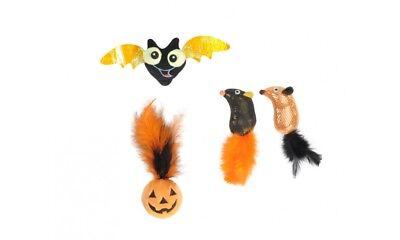 Gioco peluche per gatti in tema Halloween a forma di zucca, topino o - Gatti Di Halloween