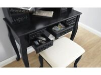 Arabella Black Traditional Dressing Table