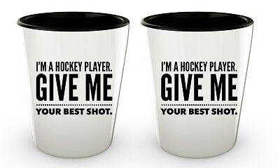 Funny Hockey Gifts Shot Glasses Free Shipping - Novelty Sports Players Set ](Funny Shot Glasses)