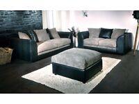 Byron corner sofas / 3+2 seater sofa set or corner sofa /grey/black or beige/brown