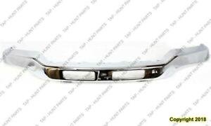 Bumper Front Chrome With Bracket With Fog Light Hole  GMC Sierra 2003-2007